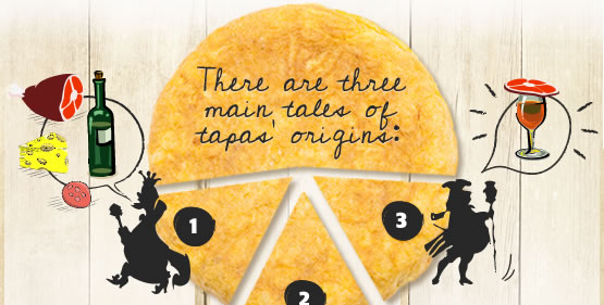 There are three main tales of tapas' origins: